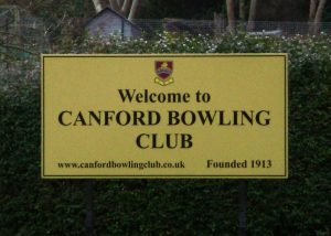 Canford Bowling plaque